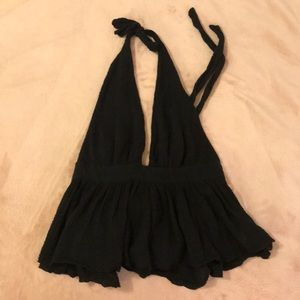 Free People Backless Halter Top